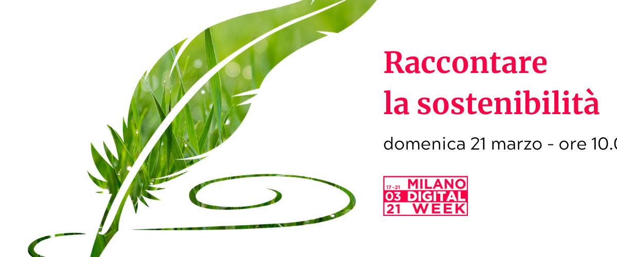 Copertina di Scrivere sostenibile alla Milano Digital Week
